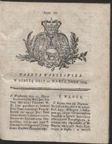 Gazeta Warszawska. R.1774 Nr 21