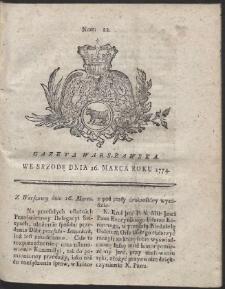 Gazeta Warszawska. R.1774 Nr 22