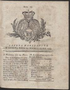Gazeta Warszawska. R.1774 Nr 23
