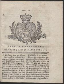 Gazeta Warszawska. R.1774 Nr 26