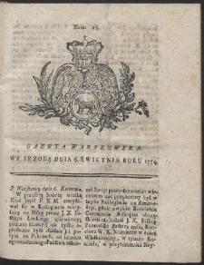 Gazeta Warszawska. R.1774 Nr 28