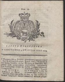 Gazeta Warszawska. R.1774 Nr 29