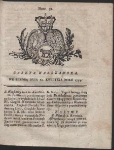 Gazeta Warszawska. R.1774 Nr 32