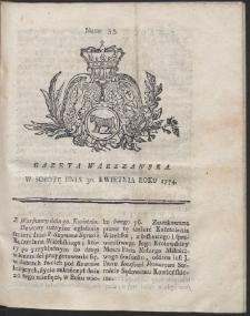 Gazeta Warszawska. R.1774 Nr 35