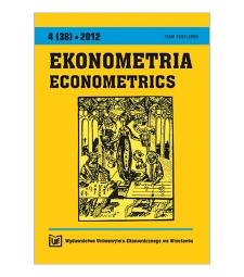 Contents [Ekonometria = Econometrics, 2012, Nr 4 (38)]