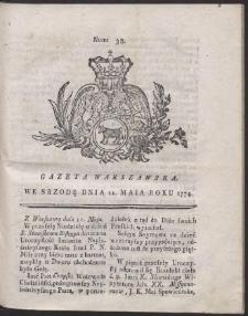 Gazeta Warszawska. R.1774 Nr 38