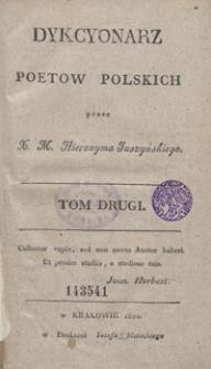 Dykcyonarz poetow polskich. Tom drugi