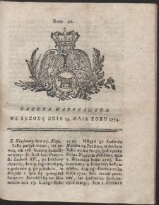 Gazeta Warszawska. R.1774 Nr 42