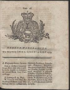 Gazeta Warszawska. R.1774 Nr 46