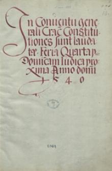[Materiały dotyczące sejmów lat 1540-1562]