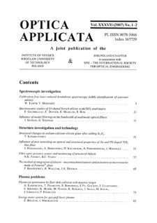 Optical interferometric structures for application in gas sensors