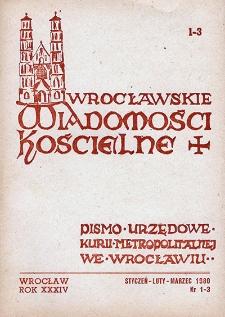 Wrocławskie Wiadomości Kościelne. R. 34 (1980), nr 1/3