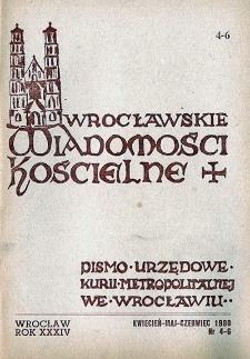Wrocławskie Wiadomości Kościelne. R. 34 (1980), nr 4/6