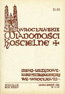 Wrocławskie Wiadomości Kościelne. R. 34 (1980), nr 11/12