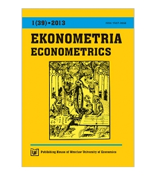 Contents [Ekonometria = Econometrics, 2013, Nr 1 (39)]