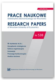 Działalność badawczo-rozwojowa determinantą innowacyjności przedsiębiorstw przemysłowych w Polsce