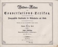 Bilder-Atlas zum Conversations-Lexikon : ikonographische Encyklopädie der Wissenschaften und Künste. Zehnte Abtheilung: Gewerbswissenschaft (Technologie). [Text]