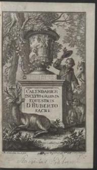 Calendarium Inclyti Ordins Eqestris D. Huberto Sacri