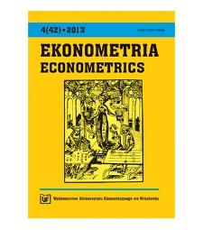 Spis treści [Ekonometria = Econometrics, 2013, Nr 4 (42)]