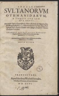 Annales Sultanorum Othmanidarum A Turcis Sua Lingua Scripti [...]