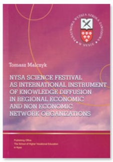 Nysa Science Festival as international instrument of knowledge diffusion in regional economic and non economic network organizations