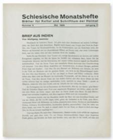 Schlesische Monatshefte : Blätter für Kultur und Schrifttum der Heimat. Jahrgang VI, Mai 1929, Nummer 5