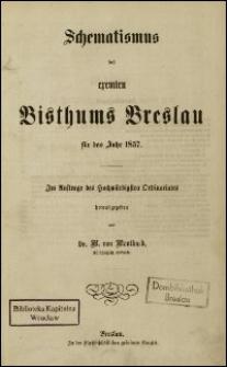Schematismus des exemten Bisthums Breslau für das Jahr 1857