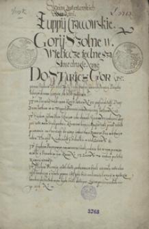 Z Ksiąg Lustratorskich. Zuppij Craccovskie [1569]