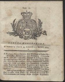 Gazeta Warszawska. R.1774 Nr 51