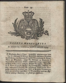 Gazeta Warszawska. R.1774 Nr 53