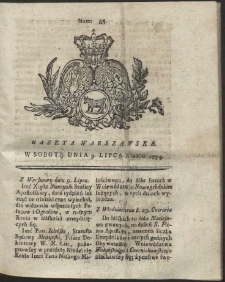 Gazeta Warszawska. R.1774 Nr 55