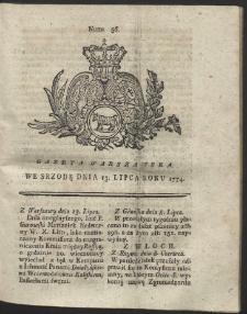 Gazeta Warszawska. R.1774 Nr 56