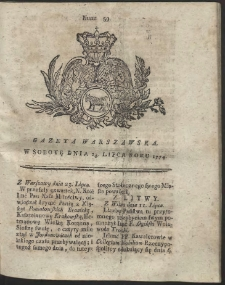 Gazeta Warszawska. R.1774 Nr 59