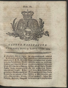 Gazeta Warszawska. R.1774 Nr 60