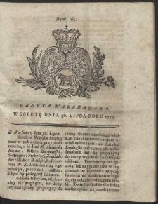 Gazeta Warszawska. R.1774 Nr 61