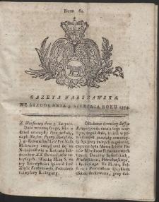 Gazeta Warszawska. R.1774 Nr 62