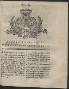 Gazeta Warszawska. R.1774 Nr 63