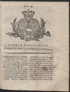 Gazeta Warszawska. R.1774 Nr 65