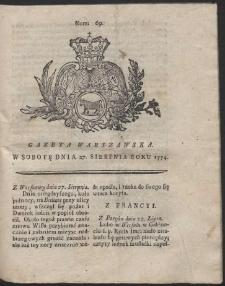 Gazeta Warszawska. R.1774 Nr 69