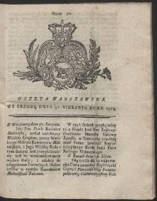Gazeta Warszawska. R.1774 Nr 70