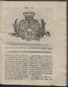 Gazeta Warszawska. R.1774 Nr 72