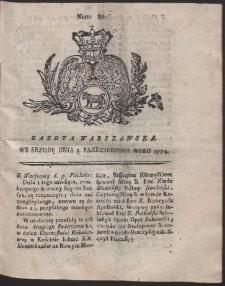 Gazeta Warszawska. R.1774 Nr 80