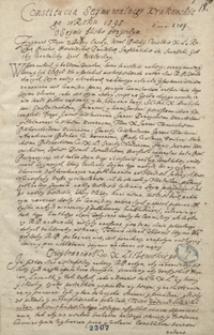 Constitutia sejmu walnego krakowskiego w roku 1595