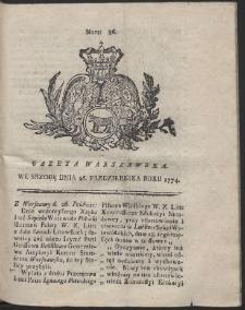 Gazeta Warszawska. R.1774 Nr 86