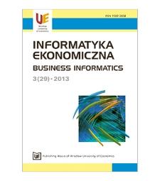 Contents [Informatyka Ekonomiczna = Business Informatics, 2013, Nr 3 (29)]