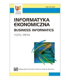 Spis treci [Informatyka Ekonomiczna = Business Informatics, 2014, Nr 1 (31)]