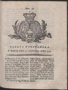 Gazeta Warszawska. R.1774 Nr 91