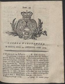 Gazeta Warszawska. R.1774 Nr 93