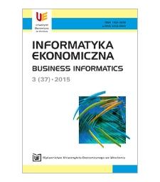 Spis treści [Informatyka Ekonomiczna = Business Informatics, 2015, Nr 3 (37)]
