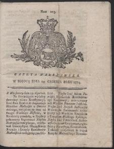 Gazeta Warszawska. R.1774 Nr 103